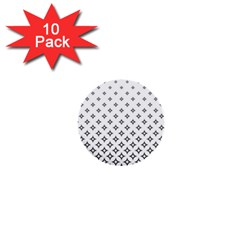 Star Pattern Decoration Geometric 1  Mini Buttons (10 Pack)  by Celenk