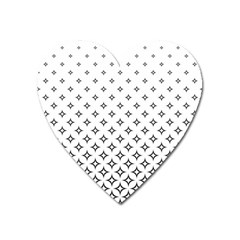 Star Pattern Decoration Geometric Heart Magnet