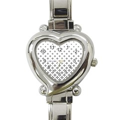 Star Pattern Decoration Geometric Heart Italian Charm Watch