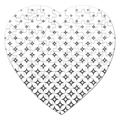 Star Pattern Decoration Geometric Jigsaw Puzzle (heart) by Celenk