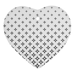 Star Pattern Decoration Geometric Heart Ornament (two Sides) by Celenk