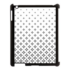 Star Pattern Decoration Geometric Apple Ipad 3/4 Case (black) by Celenk