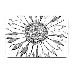 Sunflower Flower Line Art Summer Small Doormat