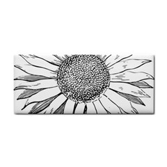 Sunflower Flower Line Art Summer Cosmetic Storage Cases by Celenk