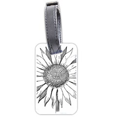 Sunflower Flower Line Art Summer Luggage Tags (two Sides) by Celenk