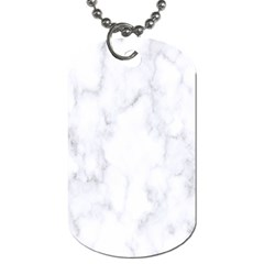 Marble Texture White Pattern Dog Tag (one Side)
