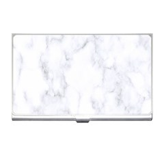 Marble Texture White Pattern Business Card Holders by Celenk