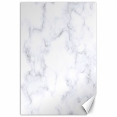 Marble Texture White Pattern Canvas 24  X 36  by Celenk