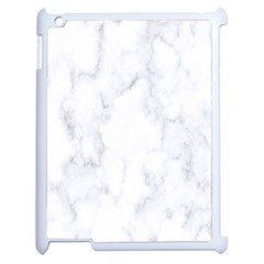 Marble Texture White Pattern Apple Ipad 2 Case (white) by Celenk