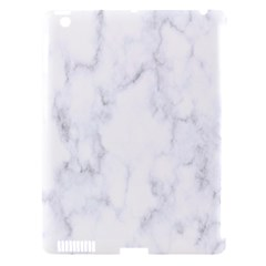 Marble Texture White Pattern Apple Ipad 3/4 Hardshell Case (compatible With Smart Cover) by Celenk