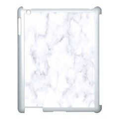 Marble Texture White Pattern Apple Ipad 3/4 Case (white) by Celenk