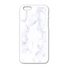 Marble Texture White Pattern Apple Iphone 6/6s White Enamel Case by Celenk