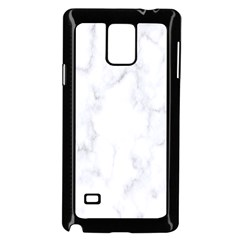 Marble Texture White Pattern Samsung Galaxy Note 4 Case (black)
