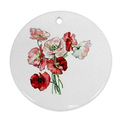 Flowers Poppies Poppy Vintage Ornament (round) by Celenk