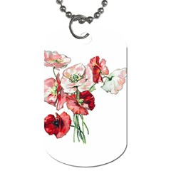 Flowers Poppies Poppy Vintage Dog Tag (two Sides)