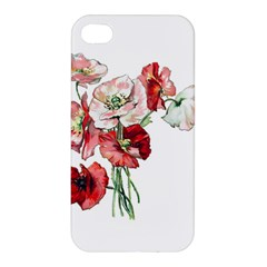 Flowers Poppies Poppy Vintage Apple Iphone 4/4s Premium Hardshell Case by Celenk