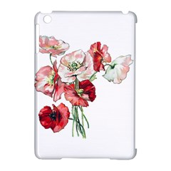 Flowers Poppies Poppy Vintage Apple Ipad Mini Hardshell Case (compatible With Smart Cover) by Celenk
