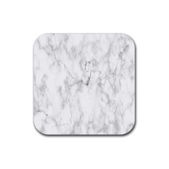 White Background Pattern Tile Rubber Square Coaster (4 Pack)