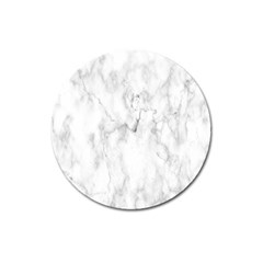 White Background Pattern Tile Magnet 3  (round) by Celenk