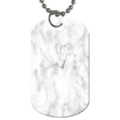 White Background Pattern Tile Dog Tag (two Sides) by Celenk