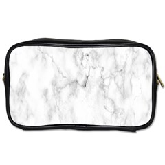 White Background Pattern Tile Toiletries Bags 2 Side by Celenk