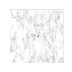 White Background Pattern Tile Small Satin Scarf (square) by Celenk