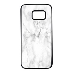 White Background Pattern Tile Samsung Galaxy S7 Black Seamless Case by Celenk