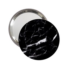 Black Texture Background Stone 2 25  Handbag Mirrors by Celenk