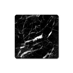 Black Texture Background Stone Square Magnet