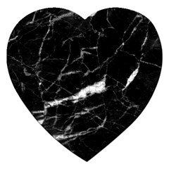 Black Texture Background Stone Jigsaw Puzzle (heart)