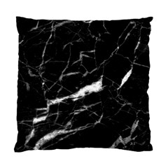 Black Texture Background Stone Standard Cushion Case (two Sides) by Celenk