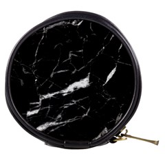 Black Texture Background Stone Mini Makeup Bags