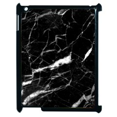 Black Texture Background Stone Apple Ipad 2 Case (black) by Celenk