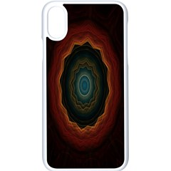 Cosmic Eye Kaleidoscope Art Pattern Apple Iphone X Seamless Case (white) by Celenk