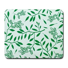 Leaves Foliage Green Wallpaper Large Mousepads by Celenk