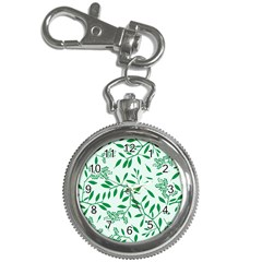 Leaves Foliage Green Wallpaper Key Chain Watches by Celenk
