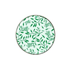 Leaves Foliage Green Wallpaper Hat Clip Ball Marker by Celenk