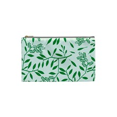 Leaves Foliage Green Wallpaper Cosmetic Bag (small)  by Celenk