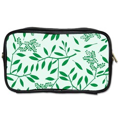 Leaves Foliage Green Wallpaper Toiletries Bags by Celenk