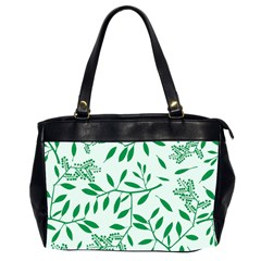 Leaves Foliage Green Wallpaper Office Handbags (2 Sides)
