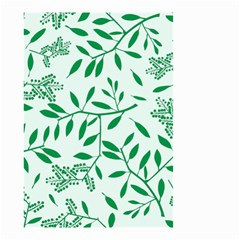 Leaves Foliage Green Wallpaper Small Garden Flag (two Sides) by Celenk