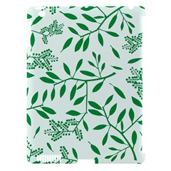 Leaves Foliage Green Wallpaper Apple Ipad 3/4 Hardshell Case (compatible With Smart Cover) by Celenk