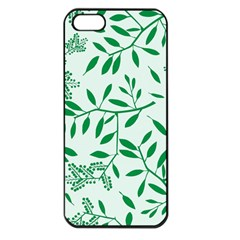 Leaves Foliage Green Wallpaper Apple Iphone 5 Seamless Case (black) by Celenk