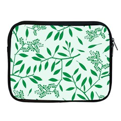 Leaves Foliage Green Wallpaper Apple Ipad 2/3/4 Zipper Cases by Celenk