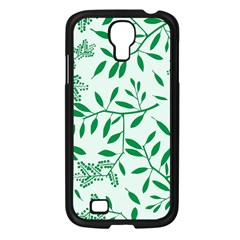 Leaves Foliage Green Wallpaper Samsung Galaxy S4 I9500/ I9505 Case (black) by Celenk