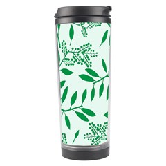 Leaves Foliage Green Wallpaper Travel Tumbler by Celenk