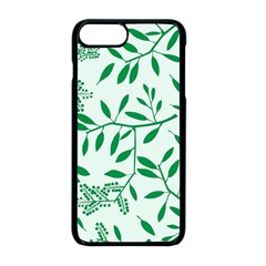 Leaves Foliage Green Wallpaper Apple Iphone 8 Plus Seamless Case (black) by Celenk