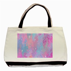 Space Psychedelic Colorful Color Basic Tote Bag (two Sides) by Celenk