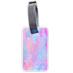 Space Psychedelic Colorful Color Luggage Tags (one Side)  by Celenk