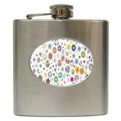 Design Aspect Ratio Abstract Hip Flask (6 Oz) by Celenk